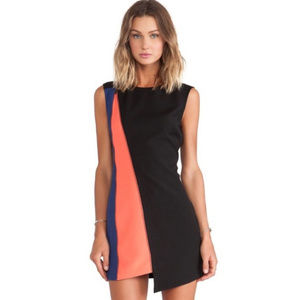 Bcbgmaxazria zip front asymmetrical nicole dress 6